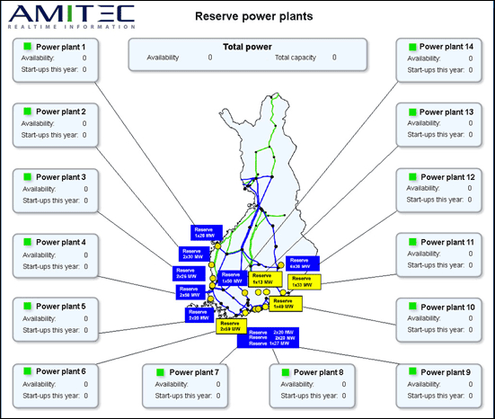 Reserve power plant capacity map